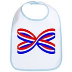 RED, WHITE, AND BLUE RIBBON Bib