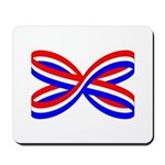 RED, WHITE, AND BLUE RIBBON Mousepad