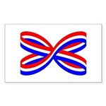 RED, WHITE, AND BLUE RIBBON Rectangle Sticker 10