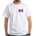 RED, WHITE, AND BLUE RIBBON White T-Shirt