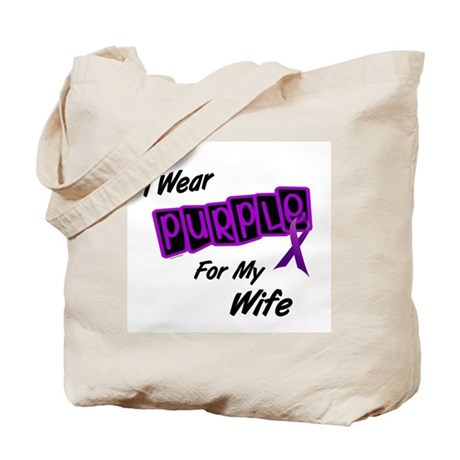I Wear Purple For My Wife 8 Tote Bag