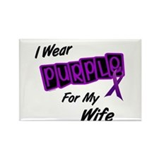 I Wear Purple For My Wife 8 Rectangle Magnet