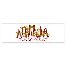 Dragon Ninja Tambourinist Bumper Stickers