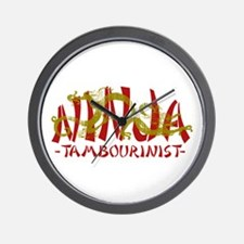 Dragon Ninja Tambourinist Wall Clock