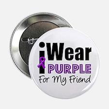 "Purple Ribbon Friend 2.25"" Button"