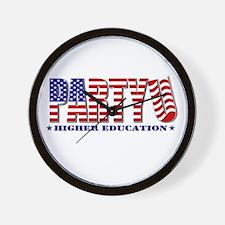 Party U/All American Wall Clock