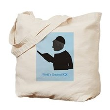 World's best Abba (Heb) Tote Bag