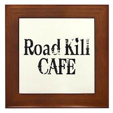 Road Kill Cafe Framed Tile