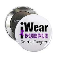 """Purple Ribbon Daughter 2.25"""" Button"""