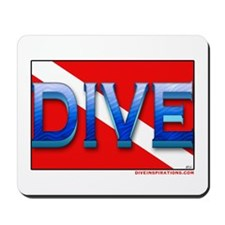 Big Blue Dive Flag Mousepad