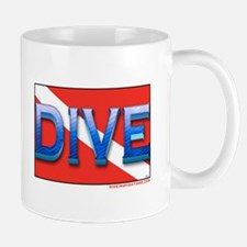 Big Blue Dive Flag Mug