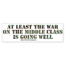 War On Middle Class Bumper Bumper Sticker