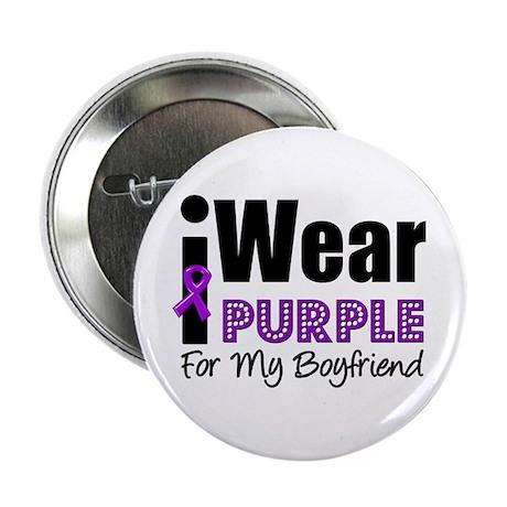 """Purple Ribbon Boyfriend 2.25"""" Button (10 pack"""