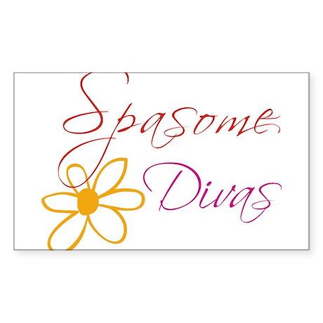 Spasome Divas Rectangle Sticker