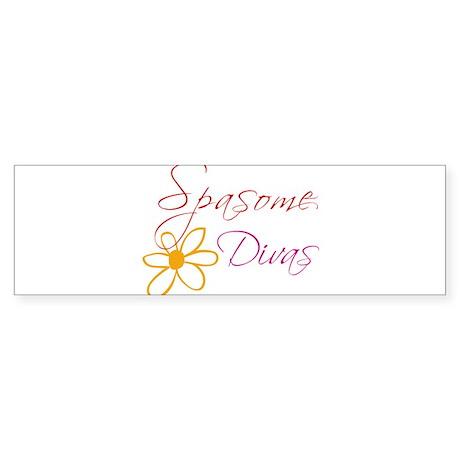 Spasome Divas Bumper Sticker