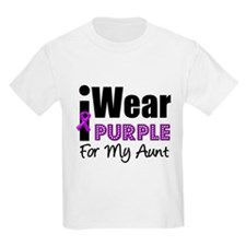 Purple Ribbon Aunt T-Shirt