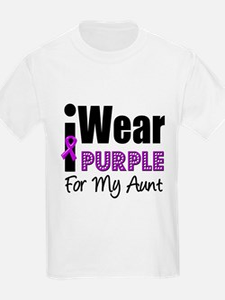 Purple Ribbon Aunt T-Shirt