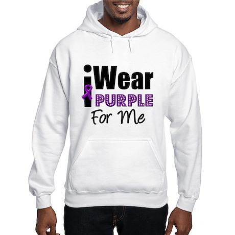 Purple Ribbon Me Hooded Sweatshirt