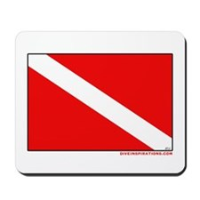 Scuba Diving Dive Flag Mousepad