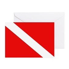 Scuba Diving Dive Flag Greeting Cards (Pk of 10)