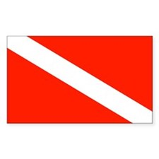 Scuba Diving Dive Flag Sticker (Rectangular)
