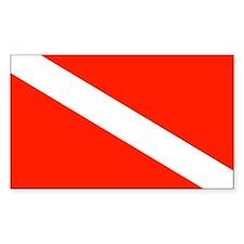Scuba Diving Dive Flag Sticker (Rectangular)