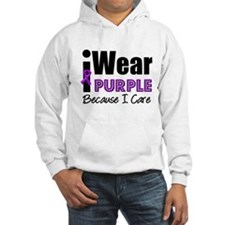 Purple Ribbon Care Hoodie