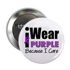 "Purple Ribbon Care 2.25"" Button"