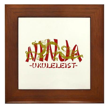Dragon Ninja Ukuleleist Framed Tile