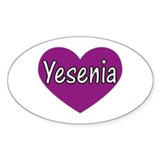 Yesenia Oval Decal