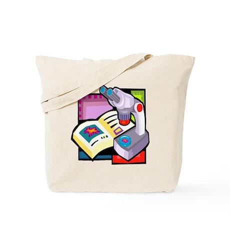 Science Microscope & book Tote Bag