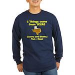 2 Things Long Sleeve Dark T-Shirt