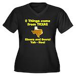 2 Things Women's Plus Size V-Neck Dark T-Shirt