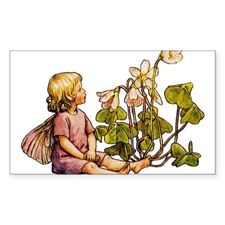 WOOD SORREL FAIRY Rectangle Sticker
