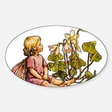 WOOD SORREL FAIRY Oval Decal