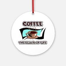Coffee Elixir Ornament (Round)