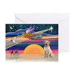 XmasStar/Yellow Lab (#7) Greeting Cards (Pk of 10)