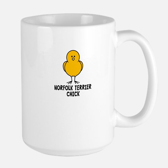 Norfolk Terrier Chick Large Mug