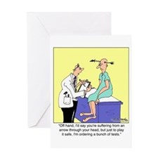 More Medical Tests Greeting Card
