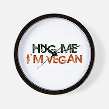 Hug Me I'm Vegan Wall Clock