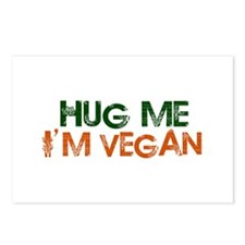 Hug Me I'm Vegan Postcards (Package of 8)