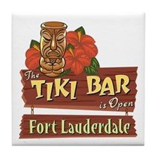 Ft. Lauderdale Tiki Bar - Tile Coaster