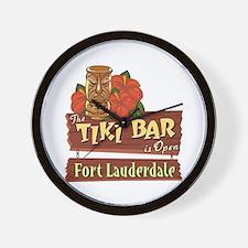 Ft. Lauderdale Tiki Bar - Wall Clock
