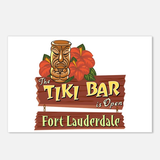 Ft. Lauderdale Tiki Bar - Postcards (Package of 8)