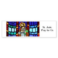 St. Jude Stained Glass Bumper Bumper Sticker