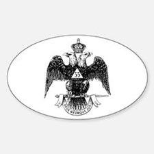 Scottish Rite 33 Oval Decal
