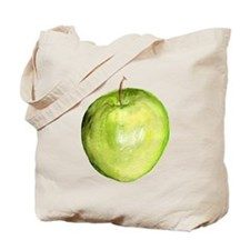 red and green apple Tote Bag 2 sided