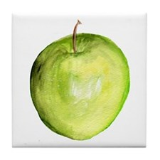 green apple Tile Coaster