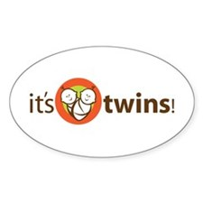 It's Twins Oval Decal