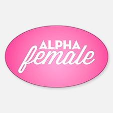 Alpha Female Sticker (Oval)